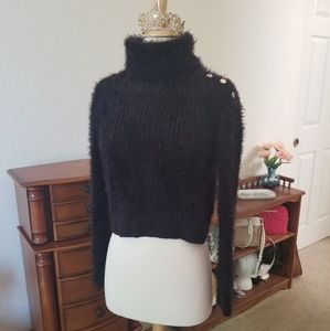 Black Bebe turtle neck sweater